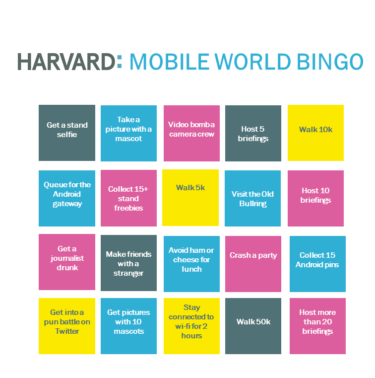 mobile world bingo harvard