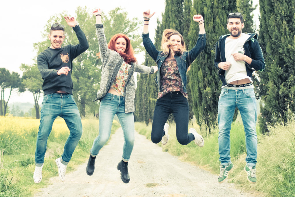 Young people jumping - pic credit ciokka